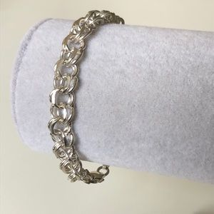 Other - Silver bracelet 8.5 inches 2-circles link craft